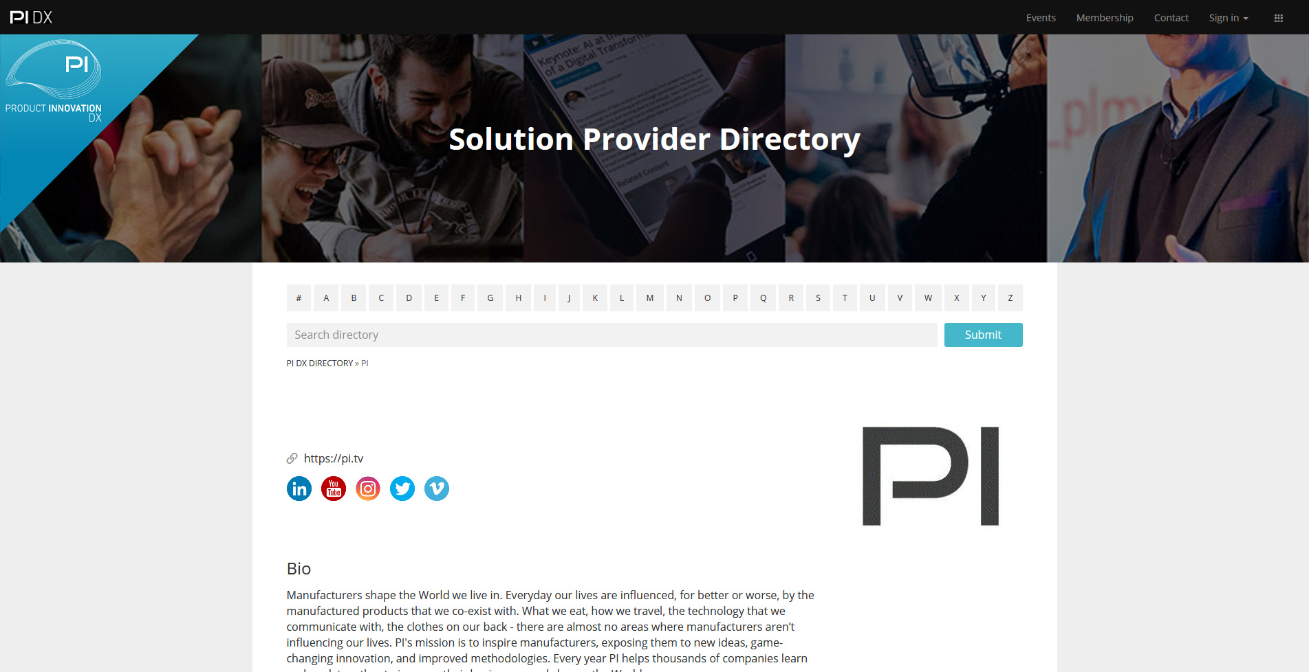 PI DX Solution Provider Directory